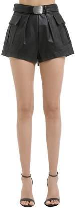 Philosophy di Lorenzo Serafini High Waist Leather Shorts