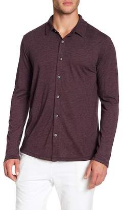 Velvet by Graham & Spencer Heather Jersey Long Sleeve Button Down Shirt