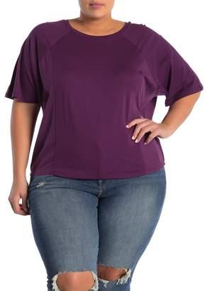14th & Union Mixed Stitch Raglan Sleeve T-Shirt (Plus Size)