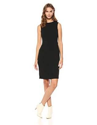 Calvin Klein Women's Scuba Crepe Sleeveless Princess Seam Sheath Dress