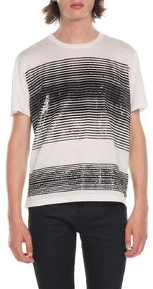 Saint Laurent Men's Sequin Panel T-Shirt