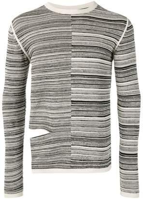 Rick Owens cut-out striped jumper