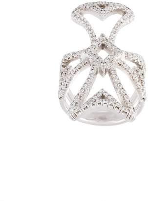 Loree Rodkin Maltese cross diamond ring