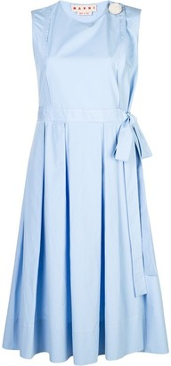 Marni sleeveless pleated dress