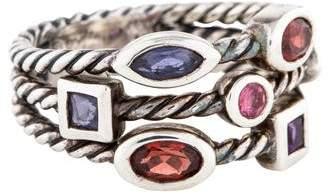 David Yurman Multistone Three Row Confetti Ring