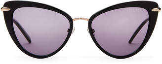 Ted Baker TBW007 Black & Gold-Tone Cat Eye Sunglasses