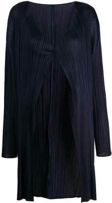 Pleats Please Issey Miyake micro-pleated coat