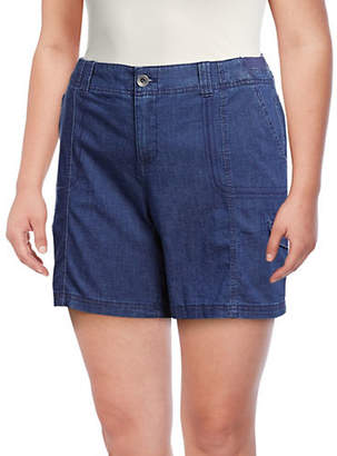 Style&Co. STYLE & CO. Plus Chambray Cargo Shorts