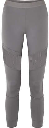 adidas by Stella McCartney Parley For The Oceans Essentials Mesh-paneled Stretch Leggings - Gray