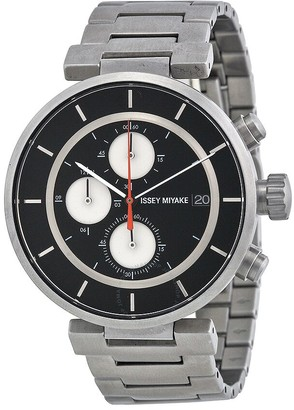 Issey Miyake Open Box - W Silver-tone Chronograph Men's Watch