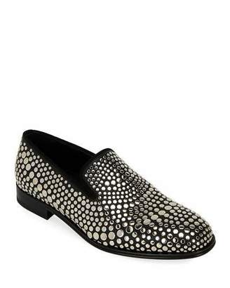 Alexander McQueen Men's Studded Leather Loafers