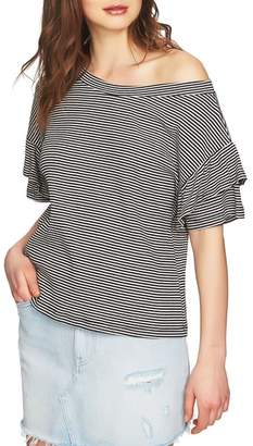 1 STATE 1.STATE Ruffle Off the Shoulder Tee