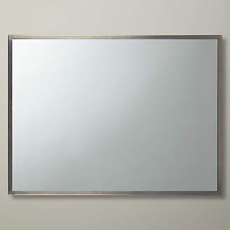 John Lewis Rectangular Wall Mirror, 76 x 102cm, Pewter