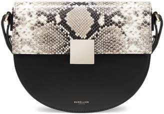 DeMellier Oslo Snakeskin-Effect Leather Half-Moon Handbag