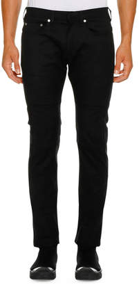 Neil Barrett Men's Ergodynamic Straight-Fit Biker Jeans