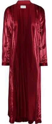 Mason by Michelle Mason Satin-trimmed Velvet Kimono