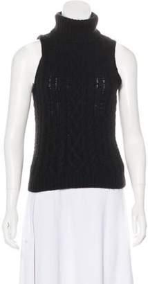 Ralph Lauren Cashmere Turtleneck Sleeveless Sweater Black Cashmere Turtleneck Sleeveless Sweater