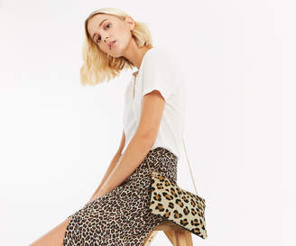 Oasis LEATHER LEONI LEOPARD CLUTCH