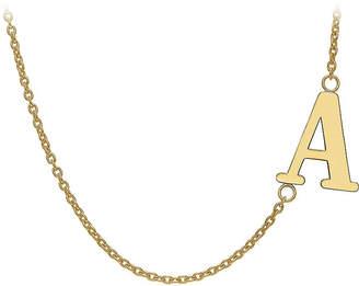 FINE JEWELRY Personalized Sideways Single Initial Necklace