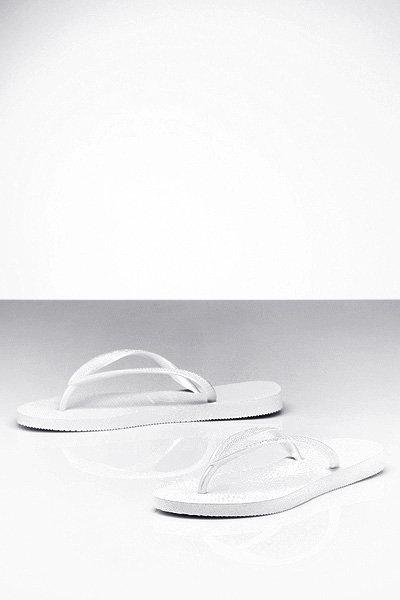 Havaianas White Slim Flip Flops