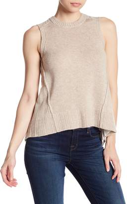 Brochu Walker Arrow Pleated Looker Wool & Cashmere Blend Tank