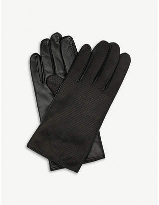 Paul Smith Textured leather gloves