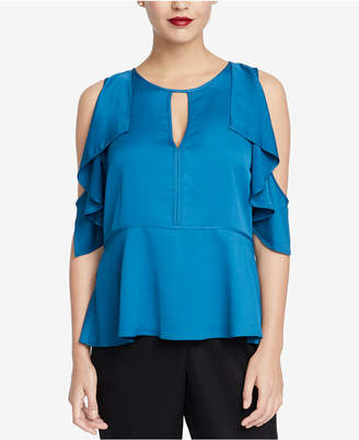 Rachel Roy Ruffled Cold-Shoulder Top, Created for Macy's
