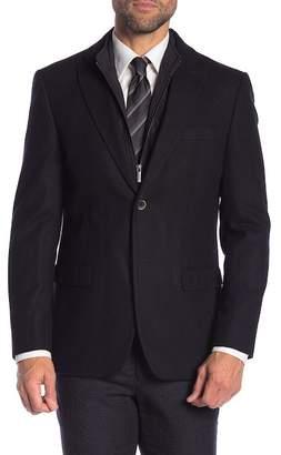 Tommy Hilfiger Detachable Vest Collar Wool Blend Sport Coat