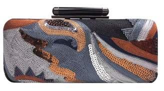 Sondra Roberts Threaded Sequin Clutch