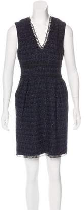 Adam Metallic Virgin Wool Dress