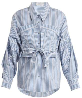 Palmer Harding Palmer//Harding Palmer//harding - Striped Cotton Shirt - Womens - Blue Stripe