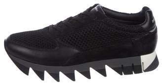 Dolce & Gabbana Mesh Leather Trainer Sneakers w/ Tags