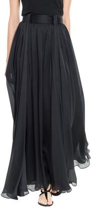 Max Studio Silk Georgette Floor Length Skirt