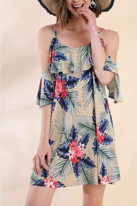 Umgee USA Cold Shoulder Dress