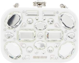Miu Miu White Plastic Clutch Bag