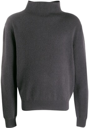 The Row cashmere turtleneck ribbed jumper