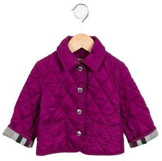 Burberry Girls' Quilted Button-Up Jacket