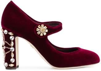 Dolce & Gabbana jewel-embellished Mary-Jane pumps