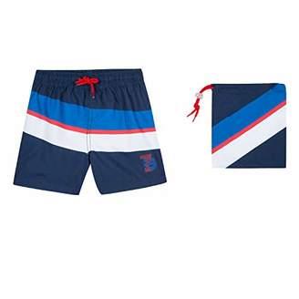 3 Pommes Boy's 3n38015 44 Swim Suit Boxer Shorts, Blue, (Size: 9/10A)
