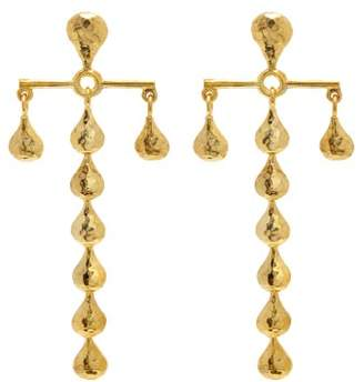 Sophia Kokosalaki Hammered Gold Plated Earrings - Womens - Gold