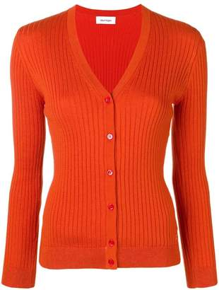 Courreges rib knit fitted cardigan