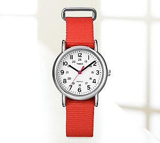 Timex Red-Strap Weekender Watch $16.46 thestylecure.com