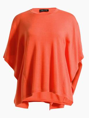 St. John Feather Weight Merino Float Jacquard Butterfly Top