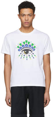 Kenzo White Limited Edition Classic Eye T-Shirt