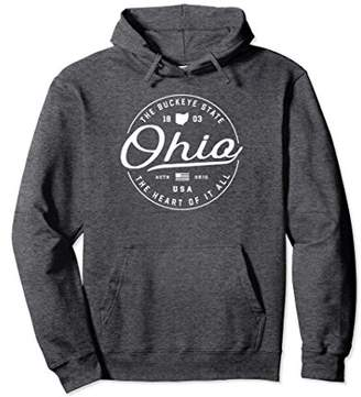 Warm Ohio Hoodie Hooded Sweatshirt Women Men Sweater OH USA