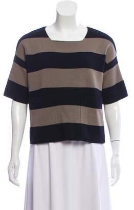 Max Mara Virgin Wool Strip Knit Top