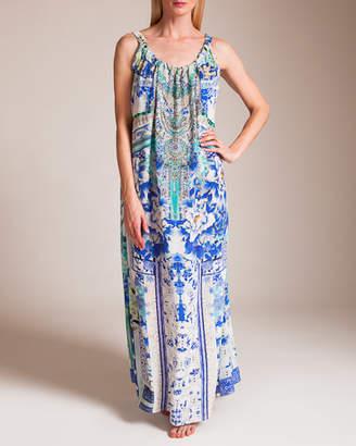 Camilla Porcelain Paradise Drawstring Dress