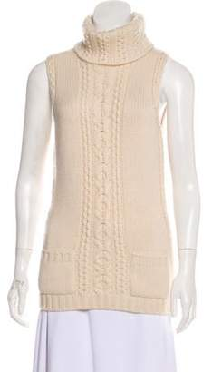 Oscar de la Renta Cashmere Sleeveless Top Beige Cashmere Sleeveless Top