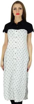 DAY Birger et Mikkelsen Bimba Women Casual Tunic Printed Kurti Short Sleeve Summer Wear Blouse