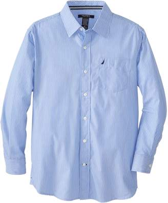Nautica Big Boys' Long Sleeve Stripe Hanging Shirt